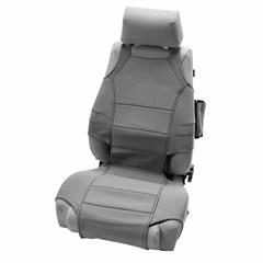Neoprene Seat Vest Protector Wrangler JK 2007-2017 Gray Rugged Ridge