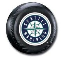 Seattle Mariners MLB Tire Cover - Black Vinyl