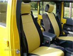 Jeep Wrangler 2007 Unlimited 4 Door Neoprene Seat Covers, Full Set for  JK 4 dr, Premium Custom Fit
