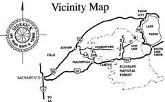 Off Road Map - Rubicon Trail, CA