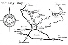 Off Road Map - Big Bear Lake, CA