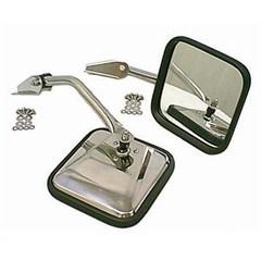 Side Mirror Pair, (1955-1986) CJ, Chrome