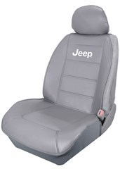 Jeep Sideless New Style Universal Seat Cover in Gray by PlastiColor