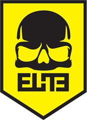 """ELiTE"" Skull Badge Decal on Yellow"
