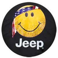 "Jeep Smiley Face with Bandana Tire Cover ""Jeep"""