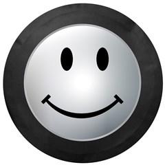 Gray Smiley Face Tire Cover
