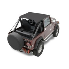 Summer Top for Jeep M38A1 and CJ5 (1955-1975) in Black Vinyl