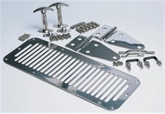 Complete Hood Kit, Stainless Steel for Jeep YJ 1987-1995