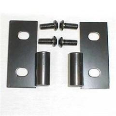 Lower Door Hinge Brackets in Black-Jeep CJ, YJ, TJ, LJ 1976-2006