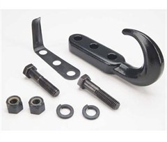Tow Hook Kit in Black for Jeep CJ/YJ/TJ/LJ (1976-2006)