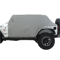 Water Resistant Cab Cover w/ Door Flaps Wrangler JK 4D 2007-2017 Gray