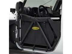 SRC Gen2 Front Tubular Doors for Jeep Wrangler JK 2007-2017 in Textured Black by Smittybilt