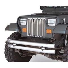 Euro Headlight Guard 4 Piece Set for Jeep YJ (1987-1995), Black