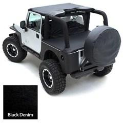 Tonneau Cover for Jeep Wrangler YJ 1992-1995 - Denim Black