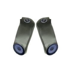 Sound Wedge With Speakers, Pair, 1997-2006, Black
