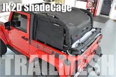 SpiderWeb TrailMesh ShadeCage, 4 piece - Jeep Wrangler JK 2 Door