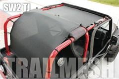 SpiderWeb TrailMesh 2 piece ShadeTop for Jeep Wrangler 2 door TJ