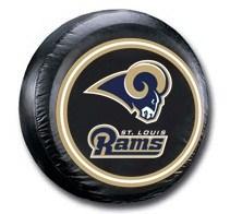 St. Louis Rams NFL Tire Cover - Black Vinyl