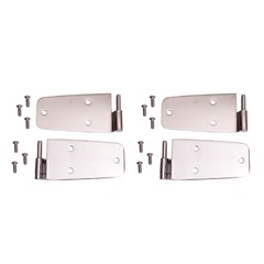 STAINLESS JEEP DOOR HINGES for JEEP CJ, WRANGLER (1976-1993)