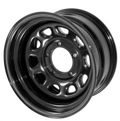 "15"" Black Steel Wheel for Jeep YJ, TJ, LJ, MJ, XJ (1987-2006)"
