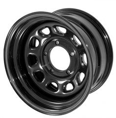 """Steel Wheel, Black, 15"""", 5 -5.5 Pattern, 3.75"""" Backspace-Jeep CJ"""