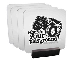 JK Coaster Set by All Things Jeep