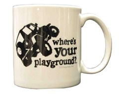 TJ  Where's Your Playground? Coffee Mug by All Things Jeep