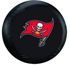 Tampa Bay Buccaneers NFL Tire Cover - Black Vinyl