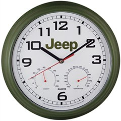 Jeep Weather Station Wall Clock (Round)
