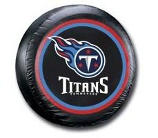 Tennessee Titans NFL Tire Cover - Black Vinyl