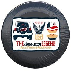 """The American Legend"" Tire Cover by All Things Jeep"
