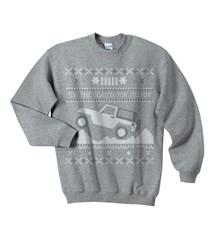 """Tis the Season"" Christmas Sweater Print Youth Crewneck in Gray"