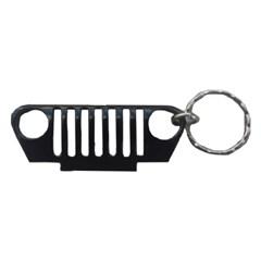 TJ Key Chain:  TJ Grille in Black