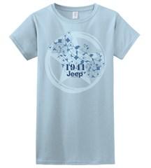 Light Blue Jeep Tee, Star+Vines, Women's Short Sleeve Shirt
