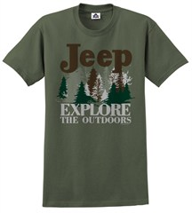 CLOSEOUT - Big Jeep Explore the Outdoors Men's Tee, Olive