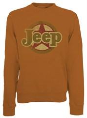 CLOSEOUT (Medium only) - Classic Jeep Star Crewneck Sweatshirt, Texas Orange