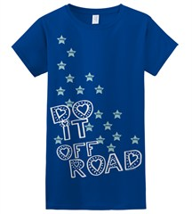Closeout: Do It Off-Road Jeep Tee for Women/Juniors, Blue