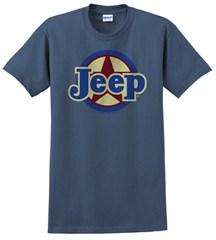 "Classic ""Jeep Star"" Unisex Indigo Blue Short Sleeved Shirt"