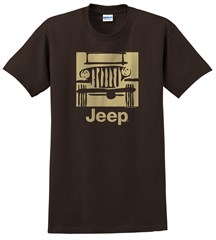 """Traditional """"Camp Jeep Logo"""" Men's T-Shirt - Brown"""