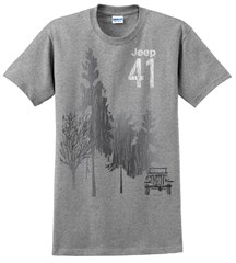 """CLOSEOUT - Jeep 41 """"Grey Forest"""" Men's Tee-Shirt"""