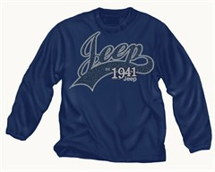 CLOSEOUT - (Small Only) - Jeep Kids Crewneck Sweatshirt, Navy, with Script Logo