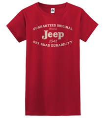 Guaranteed Original Jeep Red Tee for Girls, Junior Sized