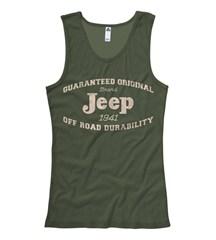"Jeep Girls ""Guaranteed Original"" Olive Green Tanktop"
