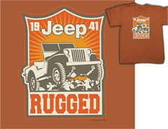 CLOSEOUT (XL Only) - Jeep Rugged 1941 Youth Tee Shirt, Dark Orange