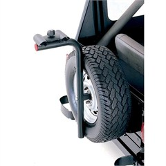 Universal Spare Tire Bike Carrier in Black by Rugged Ridge