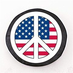 USA Peace Sign Tire Cover, Style 2