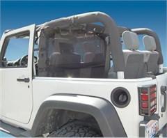 WindStopper Jeep Wind Screen, Black, 2007-2018 Wrangler JK 2 Door