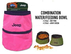 Jeep Combo Travel Dog Water / Food Bowl