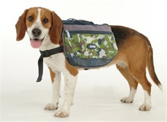 Jeep Doggie Backpack, Green Camouflage