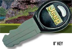 Jeep Dog Toy - Squeaky Vinyl Jeep Key